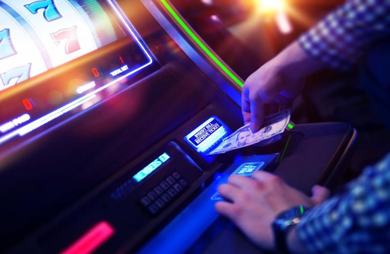 Slot machine at Del Lago Resort & Casino.