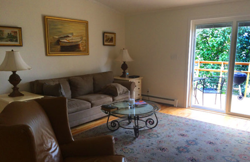 Guest living room at Clifftop On Seneca.