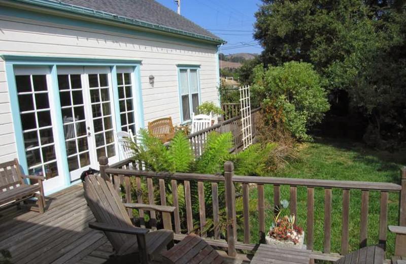 Deck view at Pescadero Creek Inn.