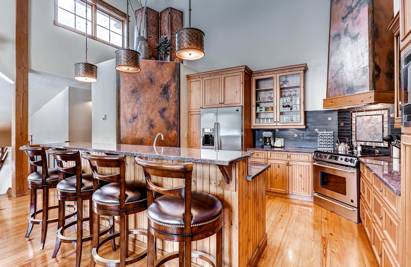 Rental kitchen at BlueSky Breckenridge.