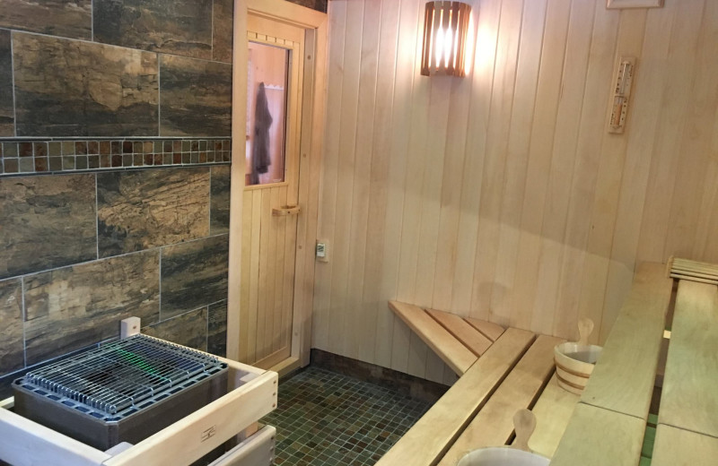Sauna at River Point Resort & Outfitting Co.