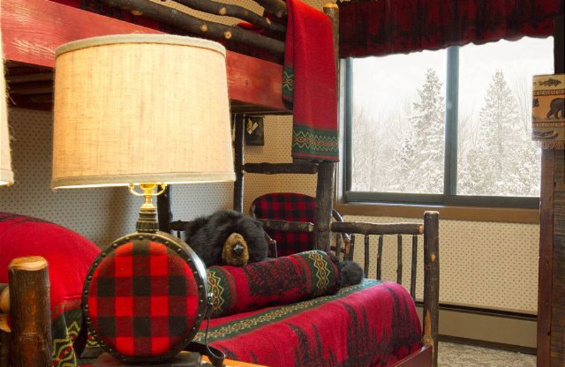 Rental bedroom at Big Powderhorn Mountain Resort.