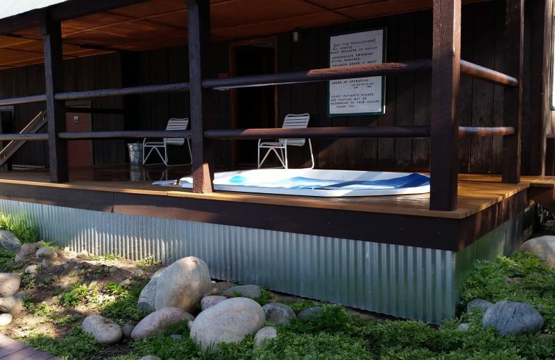 Hot tub at The Glen Eden Resort.