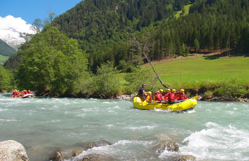 Rafting at Trailhead Lodge.