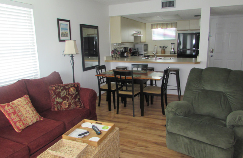 Rental interior at Saint Augustine Beach Vacation Rentals.