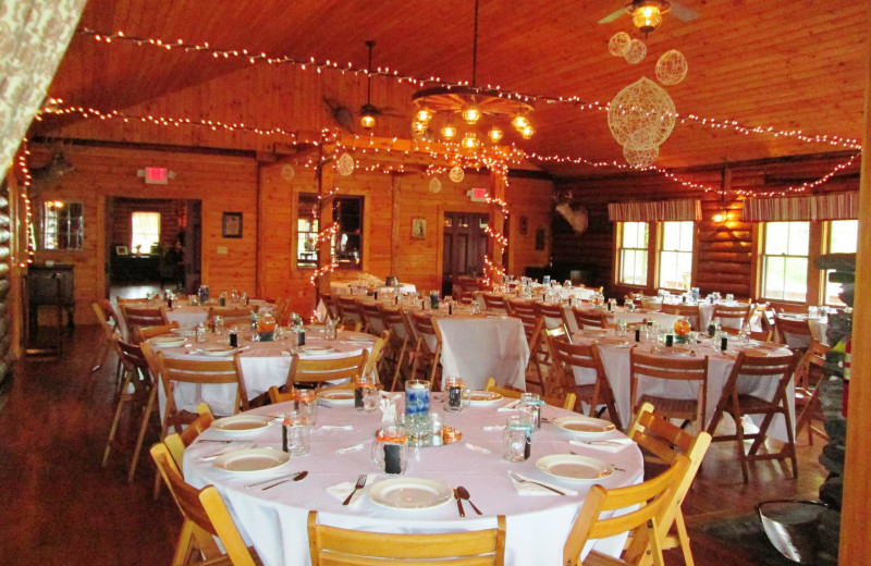 Wedding receptions and family reunion receptions in Jackson's Lodge halls.