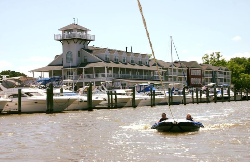 Boating at Smithfield Station.