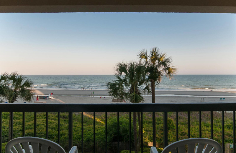 Balcony view at The Strand Resort Myrtle Beach.