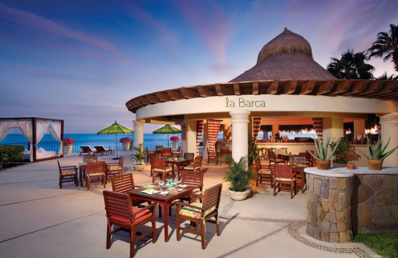 Outdoor restaurant at  Los Cabos Resort.