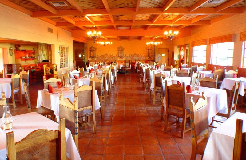 Dining at Rancho De Los Caballeros.