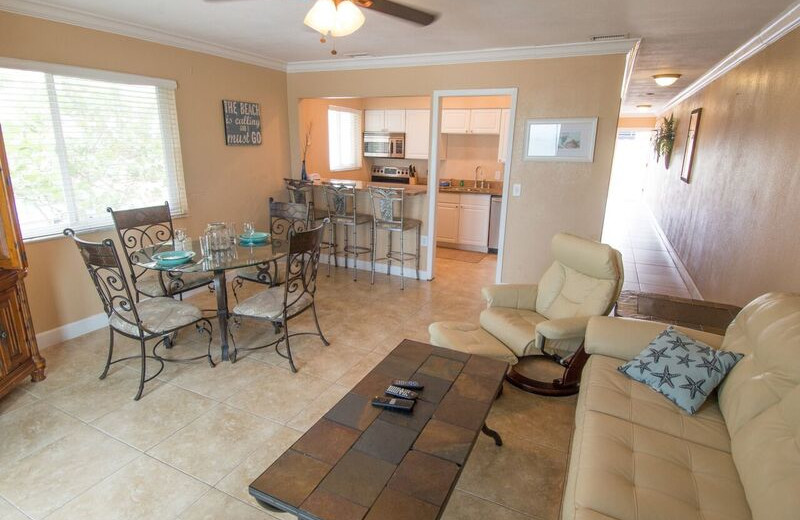 Guest living room at Anna Maria Island Inn.