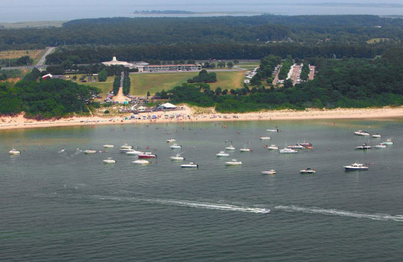 Aerial View of Sunset Beach Inn