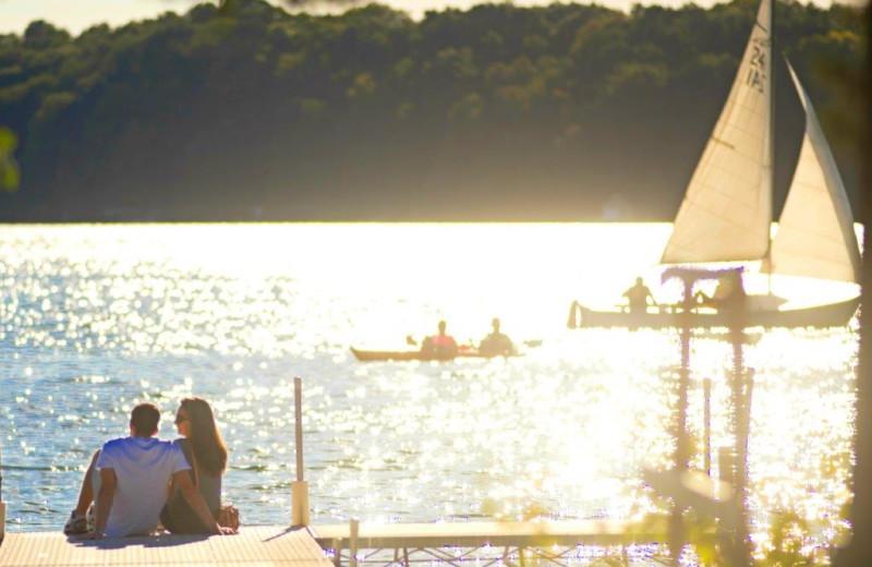 Lake at The Osthoff Resort.