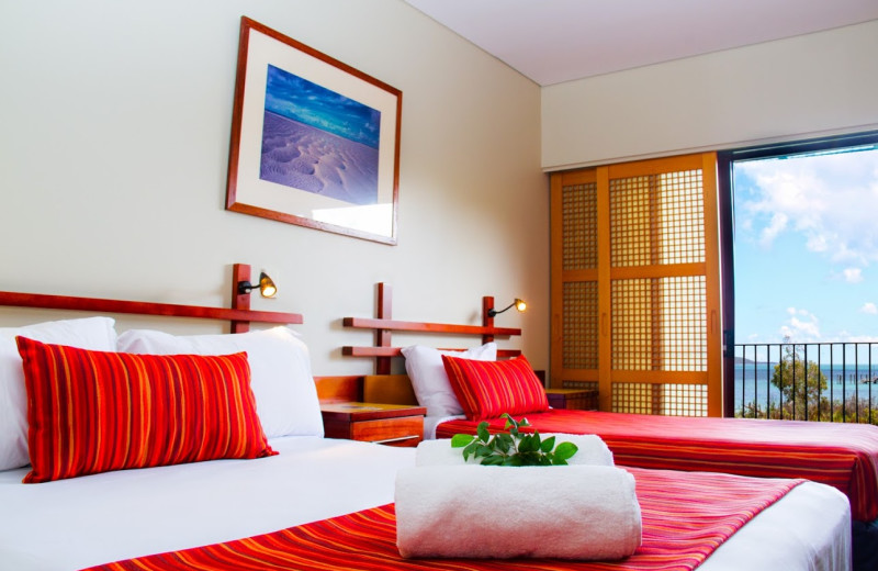 Guest room at Kingfisher Bay Resort.