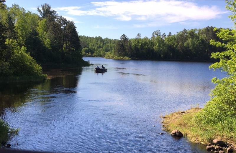 Fishing at The Lodge at Giants Ridge.