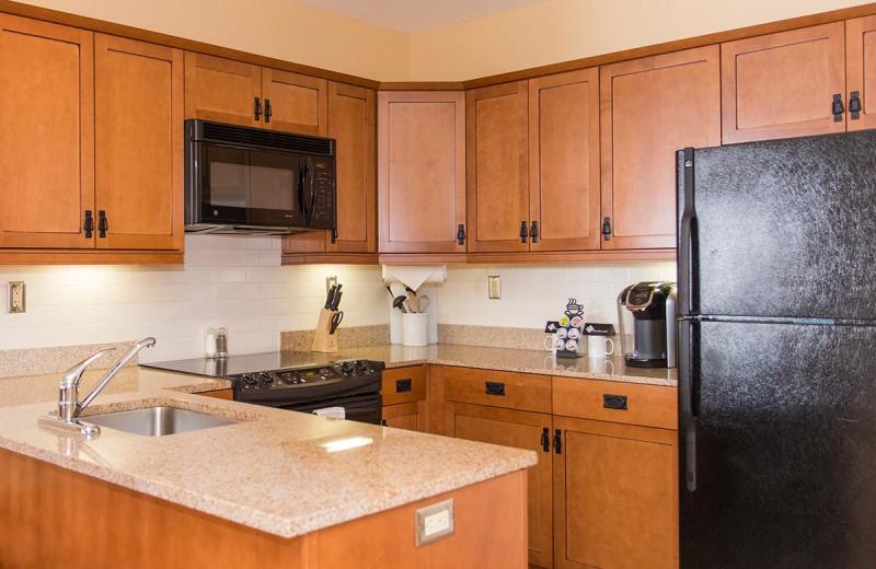 Guest kitchen at Mountain Creek Resort.
