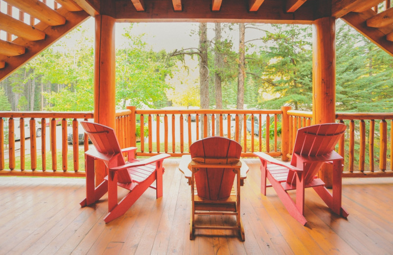Deck at Baker Creek Mountain Resort.