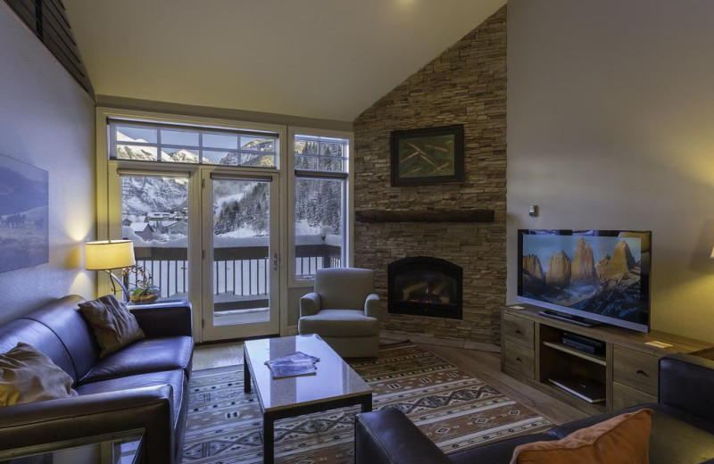 Rental living room at Welcome to Telluride Vacation Rentals.