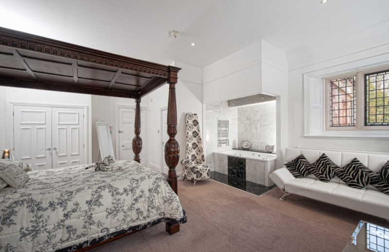 Guest room at Dalston Hall Country House Hotel.