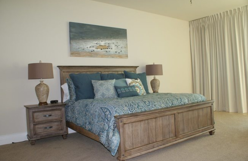Rental bedroom at Gulf Beach Rentals.