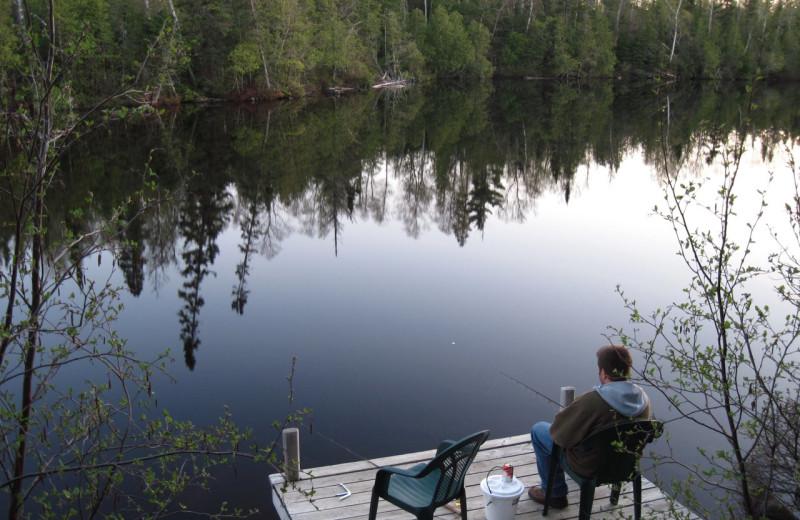 Fishing at Rockwood Lodge.
