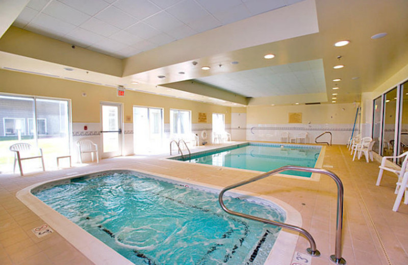 Indoor pool at Hilton Garden Inn Outer Banks.
