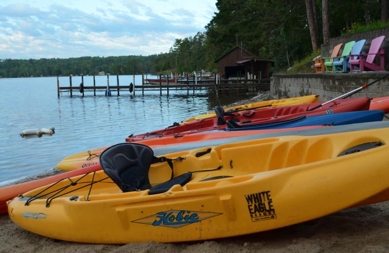 Kayaking at White Eagle Resort.