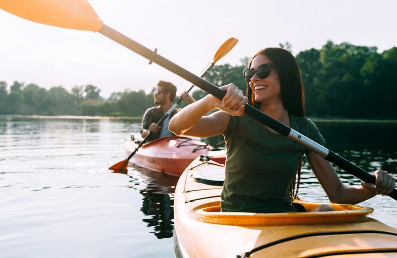 Kayaking at Cove Haven Entertainment Resorts.