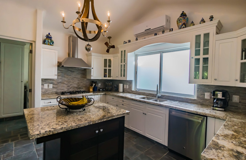 Rental kitchen at Bric Vacation Rentals.