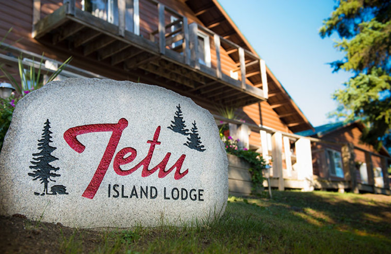 Exterior view of Tetu Island Lodge.