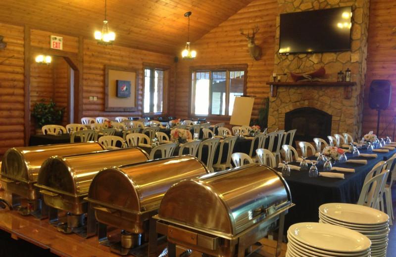 Dining at Bakers Narrows Lodge.