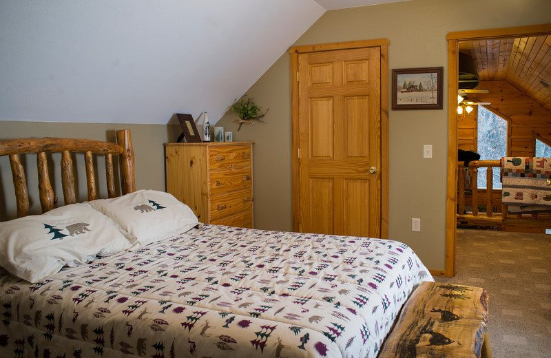 Rental bedroom at Sand County Service Company.