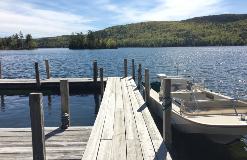 Dock at The Quarters at Lake George.