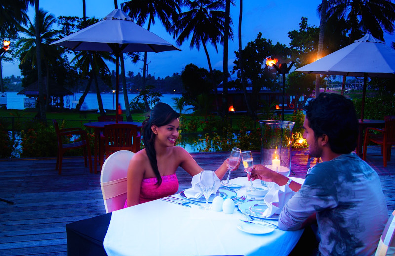 Dining at Bentota Beach Hotel.