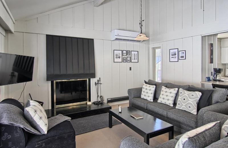 Condo living room at Hawk's Eye Golf Resort.