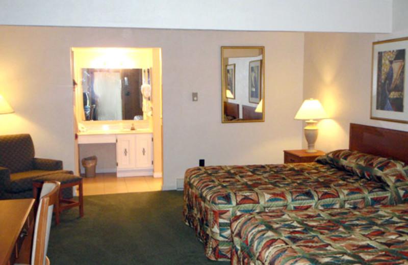 Guest room at Hidden Valley Resort.