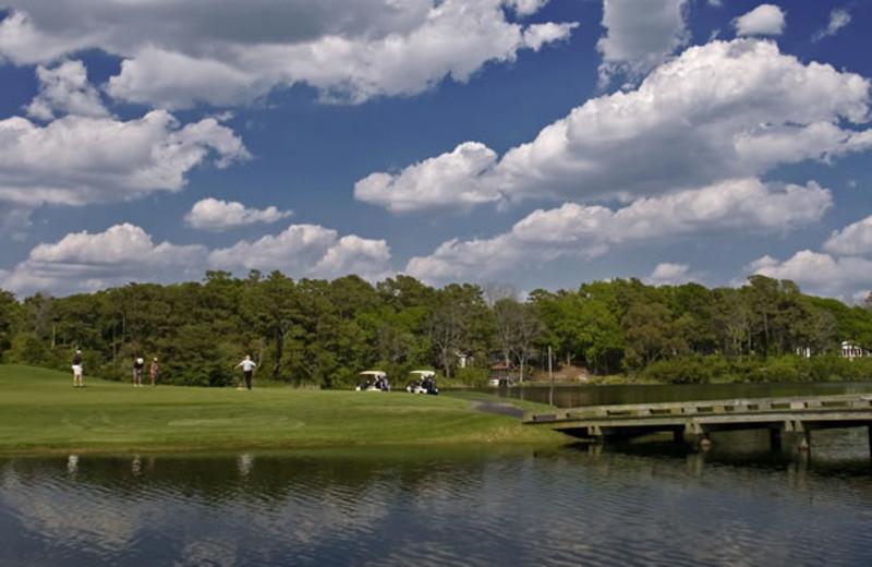Golf course view at Ocean Isle Inn.