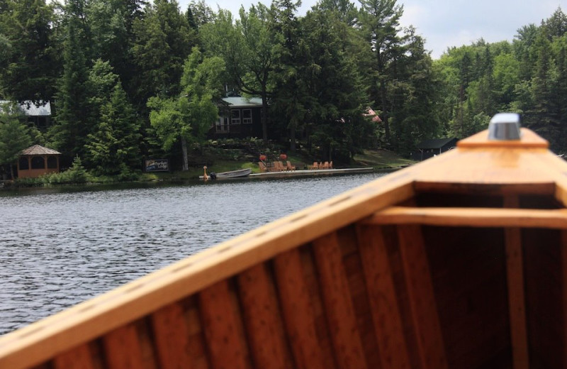 Canoeing at Bartlett Lodge.
