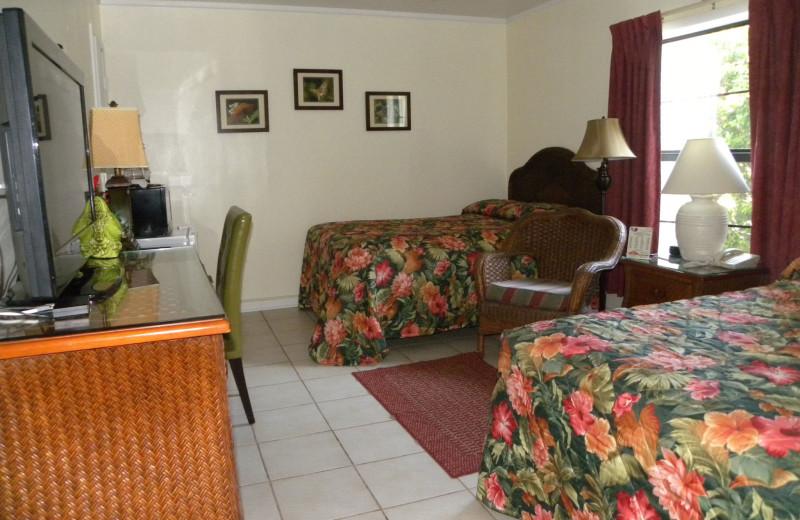 Guest room at Rock Reef Resort.
