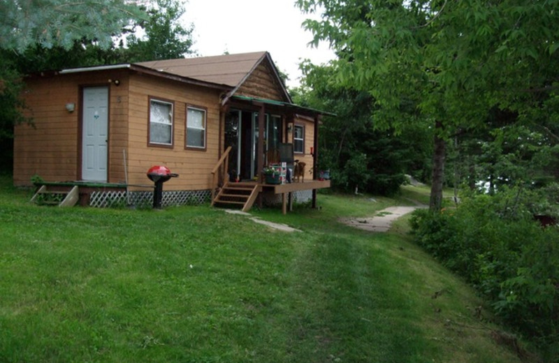 Cabin at Lake Of The Woods Lodge.