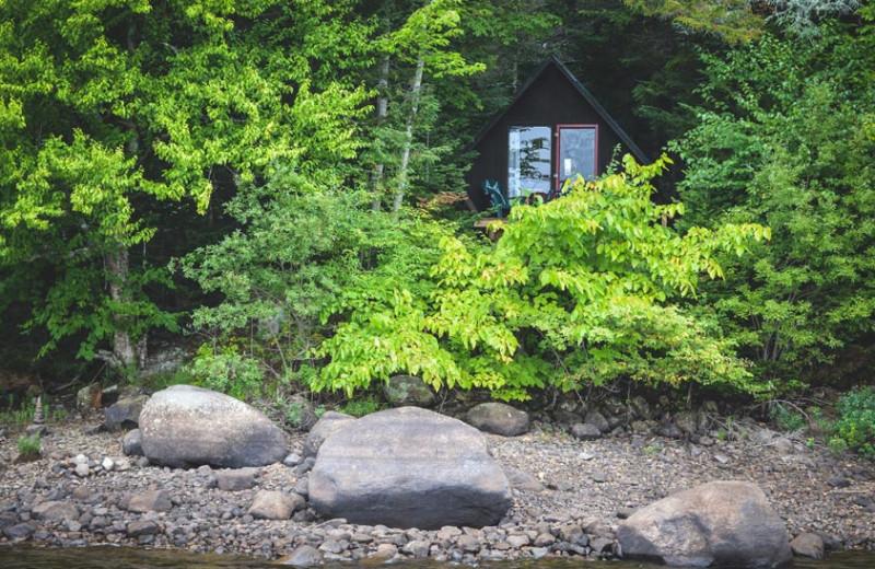 Cabin exterior at Timberlock.