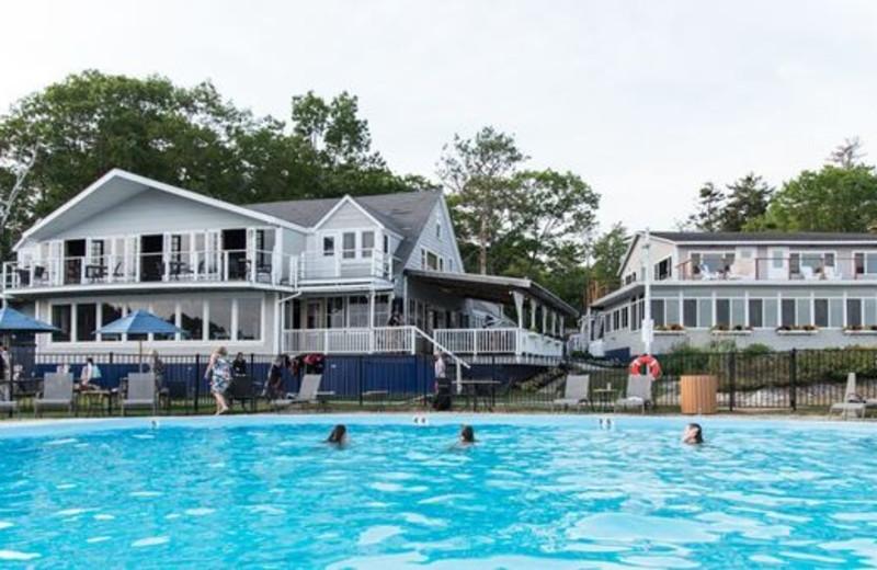 Outdoor pool at Linekin Bay Resort.