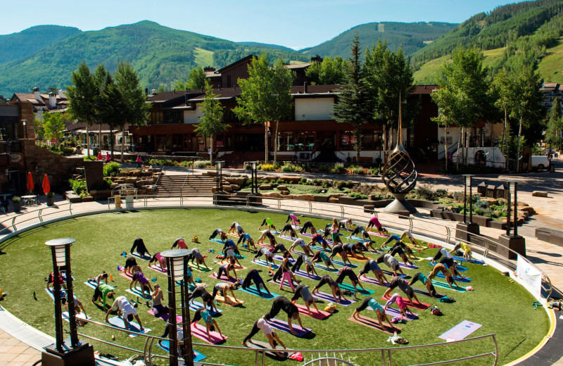Yoga class at Manor Vail Lodge.