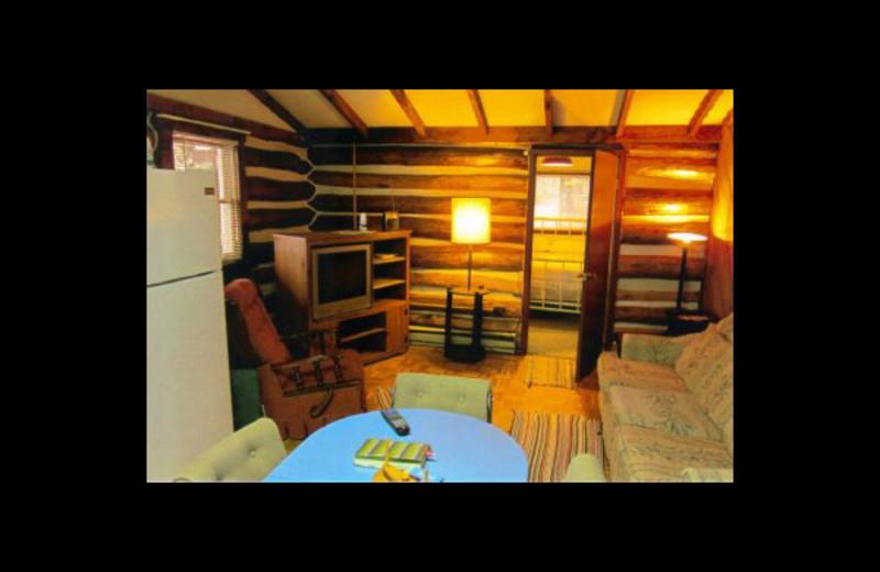 Cabin interior at Cherry Ridge Cabin Rentals.