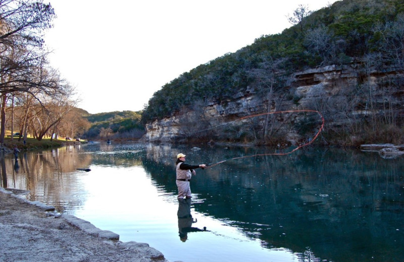 Fishing at Rio Guadalupe Resort.