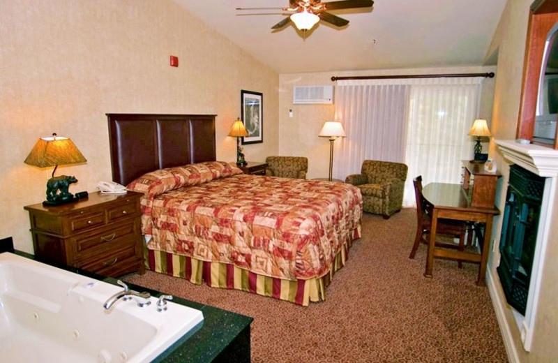 Guest room at Yosemite View Lodge.