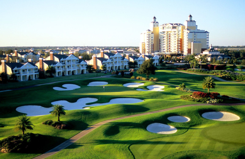 Resort golf course at Vacation Pool Homes.