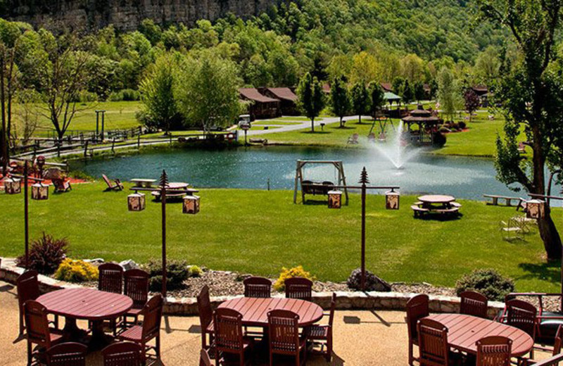 Grounds at Smoke Hole Caverns & Log Cabin Resort.