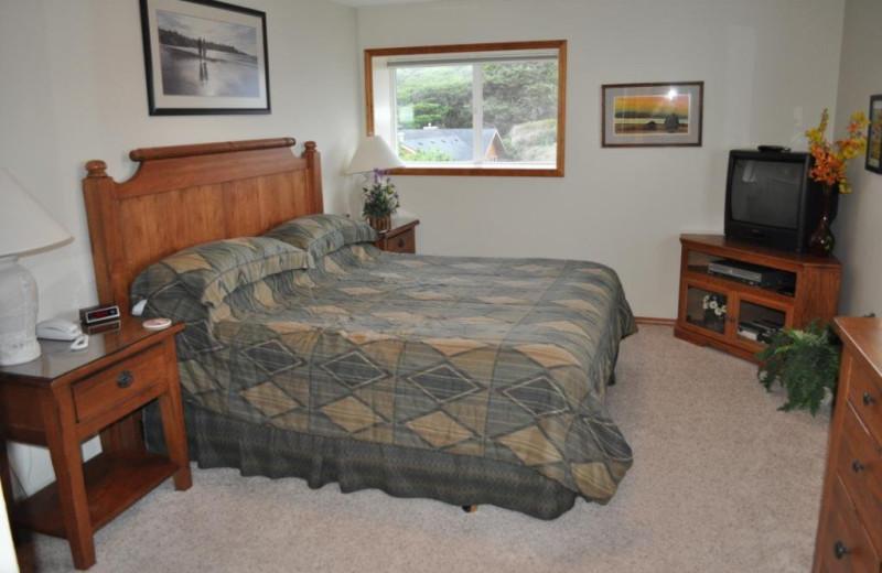 Unit 40 master bedroom at Cavalier Beachfront Condominiums.