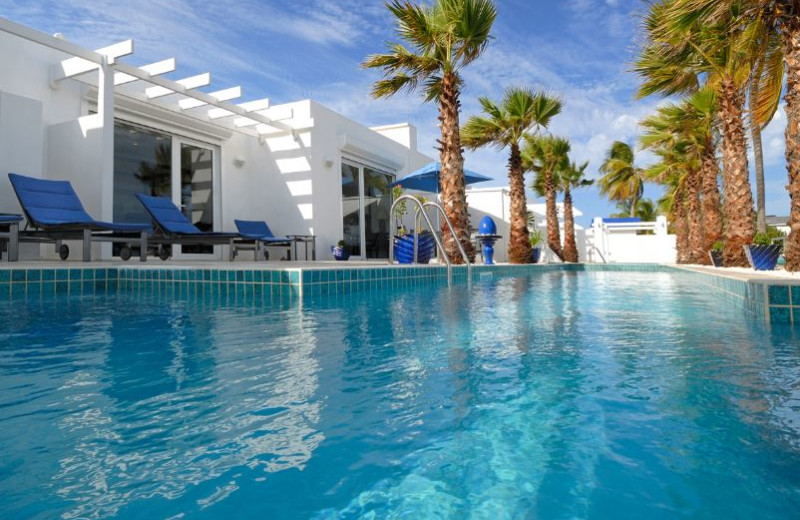Outdoor pool at Coral Beach Club.